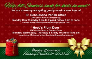 Help fill Santa's Sack