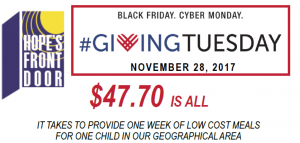 JOIN THE #GIVINGTUESDAY MOVEMENT