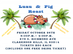 Event Cancellation: Luau & Pig Roast Fundraiser October 26th