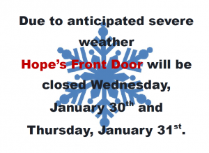 SEVERE WEATHER CLOSING: JANUARY 30TH & 31ST