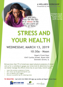 Health & Wellness Workshop: Stress and Your Health