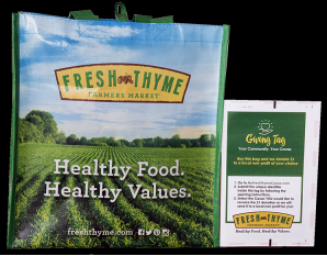 Exciting News! Hope's Front Door is taking part in Fresh Thyme Giving Bag Program!