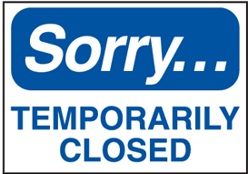 Temporarily Closed Announcement Update