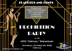 Prohibition Virtual Party Fundraiser…DONATE HERE!