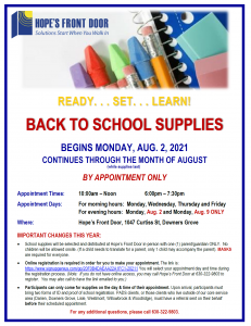 2021 August Back to School Supplies Distribution