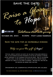 Save the Date: Raise a Glass to Hope October 28th Fundraiser!